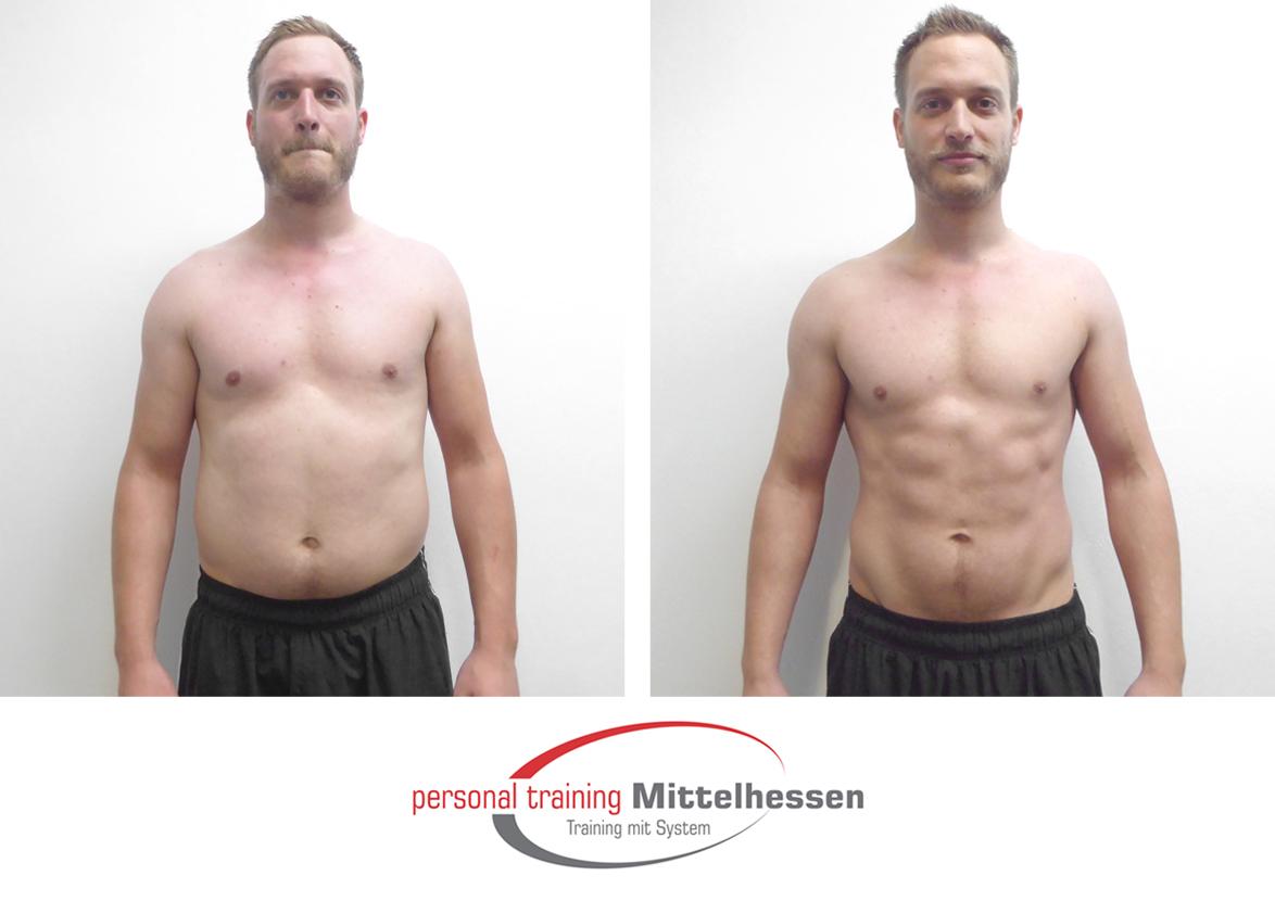 Körperfett reduzieren und Muskeln aufbauen Miguel Vorne